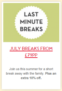 Butlins Last minute July 2015